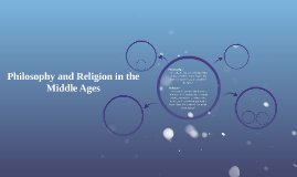 Philosophy and Religion in the middle ages