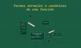 Formas normales o canónicas de una función