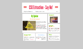 CSG Extraction - Say No!