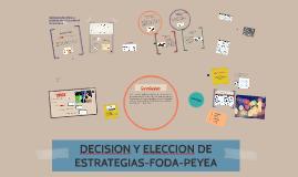DECISION Y ELECCION DE ESTRATEGIAS-FODA-PEYEA