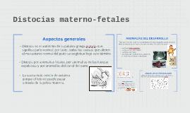 Distocias materno-fetales