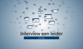 Interview een leider