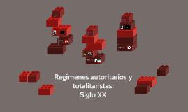 Regímenes autoritarios y totalitaristas