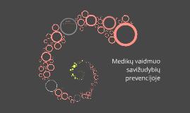 Copy of Medikų vaidmuo savižudybių prevencijoje