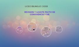 REVISION Y AJUSTE PACTO DE CONVIVENCIA Y SIE