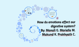 How do emotions effect our digestive system?
