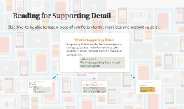 Reading for Supporting Detail
