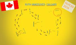 RUTA VANCOUVER- CALGARY