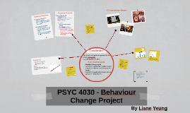 PSYC 4030 - Behavioural Change Project