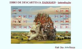 Erro de Descartes (A. Damásio) - Uma introdução