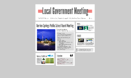 Local Government Meeting