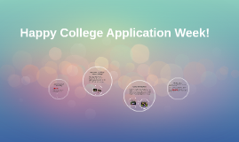 Happy College Application Week!