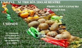 Nutrición: Períodos estacionales de producción de alimento(FAO - 2007)