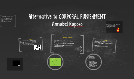 alternatives to corporal punishment