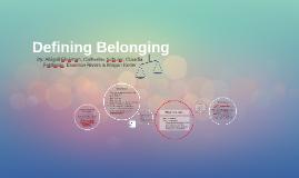 Defining Belonging