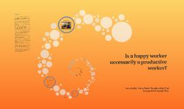 Happiness = Productivity?