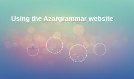 Using the Azargrammar website