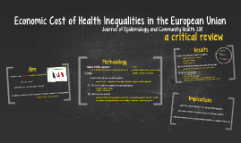 Economic Cost of Health Inequalities in the European Union