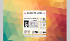 DICTADURA EN EL SALVADOR