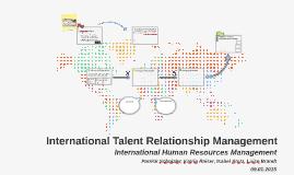 Copy of International Talent Relationship Management