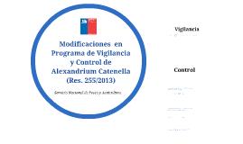 Modificaciones en Programa de Vigilancia A. catenella