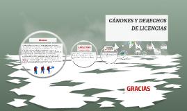 CÁNONES Y DERECHOS DE LICENCIAS