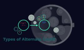 Types of Alternate Credit