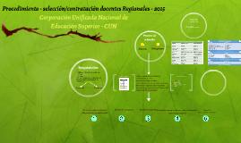 Procedimiento - selección/contratación docente 2015