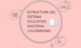 ESTRUCTURA DEL SISTEMA EDUCATIVO NACIONAL COLOMBIANO