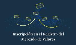Inscripción en el Registro del Mercado de Valores