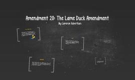The Lame Duck Amendment