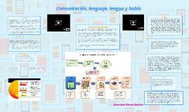 Comunicación, lenguaje, lengua y habla.