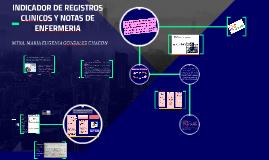 Copy of INDICADOR DE REGISTROS CLINICOS Y NOTAS DE ENFERMERIA