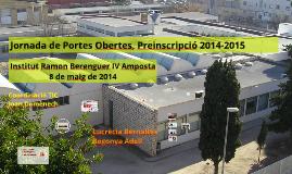 Preinscripció  Batxillerat 2014-15 Ins RB IV Amposta