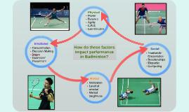 Factors Impacting in Badminton