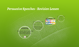 Persuasive Speeches - Revision Lesson