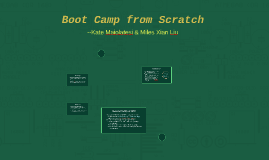 Boot Camp from Scratch