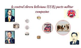 la central obrera boliviana (COB) pacto militar campesino