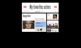 My favorites actors