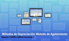Copy of Métodos de Depreciación: Metodo de Agotamiento