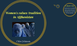 Womens values/tradition in Afghanistan