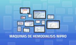 MAQUINAS DE HEMODIALISIS NIPRO