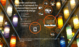 TEU2016 Learners and mobile devices: A framework for enhanced learning and institutional change
