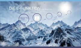 E-Funktion