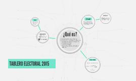 Tablero electoral 2015
