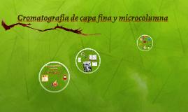 Cromatografía de capa fina y microcolumna