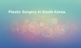Plastic Surgery in South Korea.