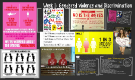 Week 11: Gendered Violence and Discrimination