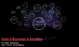 Events & Discoveries in Astronomy