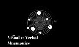 Visual vs Verbal Mnemonics